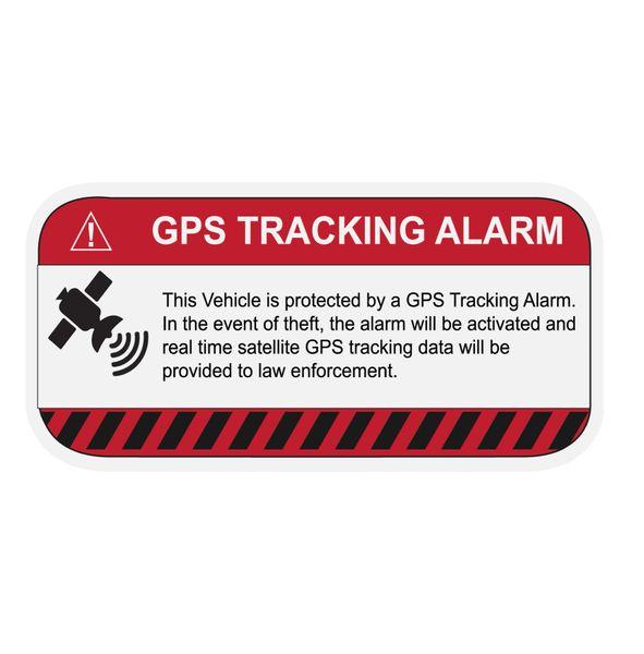 GPS TRACKING ALARM VINYL DECAL