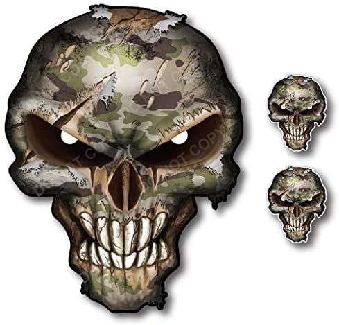 Camouflage Skull Decal Army Car Truck Military Pack Sticker TGL Thin Green Line Army Marine Corps Navy Air Force Coast Guard