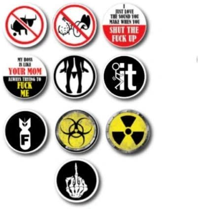 10 Pack of Hilarious crude humor Hard Hat Decals Stickers Toolbox Funny Offensive Prank LOL Construction