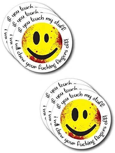 6 Pack of Crude Humor Hilarious Hard Hat Prank Decal Joke Sticker Funny Laugh Construction LOL