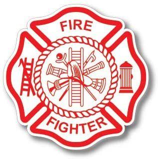 3 Pack Firefighter Badge Maltese Cross Thin Red Line Red Lives Matter for Firemen or Firewomen