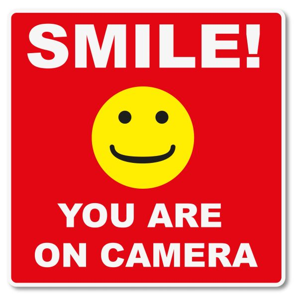 SMILE YOU ARE BEING WATCHED VINYL DECAL