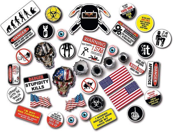 39 Pack of Crude Humor Hilarious Welder Edition Hard Hat Prank Decal Joke Sticker Funny Laugh Construction LOL