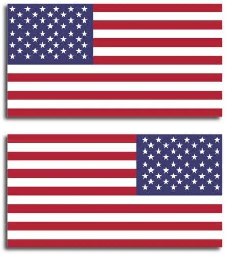2 Pack American Flag Decal Sticker Vinyl Car Truck Gift Bumper USA 2ND 3M Military Army Navy