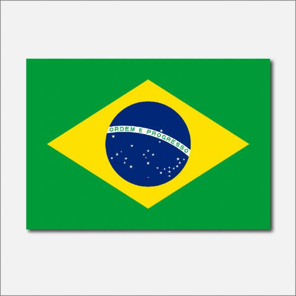 BRAZIL COUNTRY FLAG VINYL DECAL STICKER