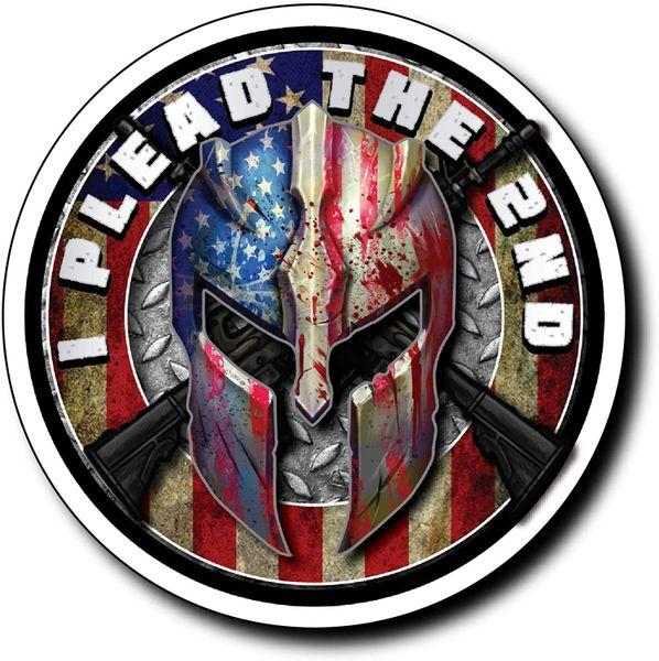 """I Plead The 2ND"" 3M Vinyl Decal Skull Sticker Gun Rights Molon Labe 2nd Amendment"