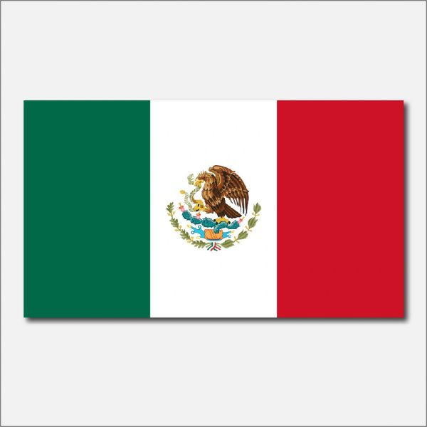 MEXICO COUNTRY FLAG VINYL DECAL STICKER