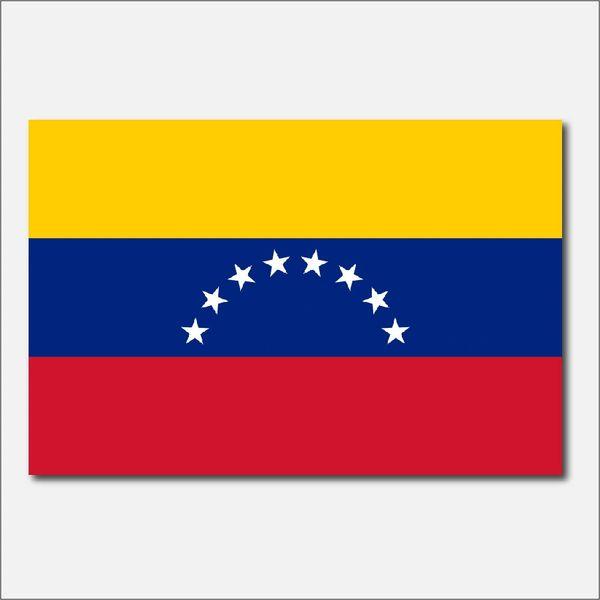 VENEZUELA COUNTRY FLAG VINYL DECAL STICKER