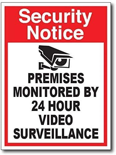 Red Security Sticker Decal Car Truck Vinyl Window Camera Warning Alarm Burglar Attention