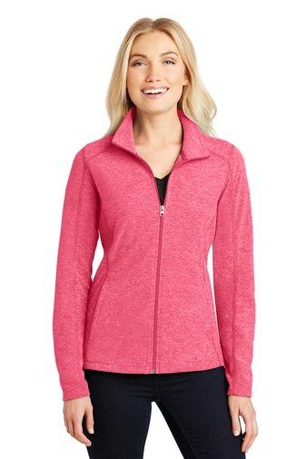 Port Authority® Ladies Heather Microfleece Full-Zip Jacket HBG