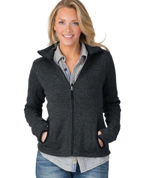Charles River Women's Heathered Fleece Jacket HBG