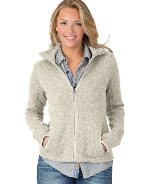 CHARLES RIVER Women's Heathered Fleece Jacket NCA