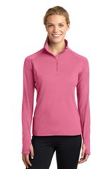 Sport-Tek® Ladies Sport-Wick® Stretch 1/2-Zip Pullover BNS