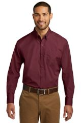 Port Authority® Long Sleeve Carefree Poplin Shirt BNS