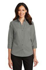 Port Authority® Ladies 3/4-Sleeve SuperPro™ Twill Shirt BNS