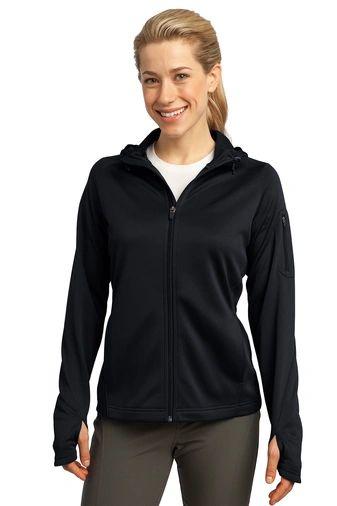 Sport-Tek® Ladies Tech Fleece Full-Zip Hooded Jacket INS