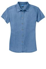 Port & Company® - Ladies Short Sleeve Value Denim Shirt INS