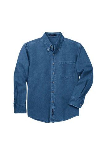 Port Authority® Heavyweight Denim Shirt INS
