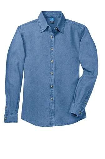 Port & Company® - Ladies Long Sleeve Value Denim Shirt INS