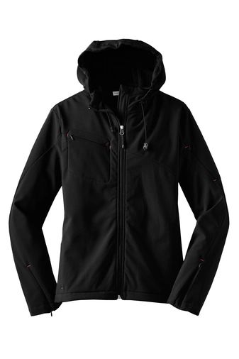 Port Authority® Ladies Textured Hooded Soft Shell Jacket NBC2020