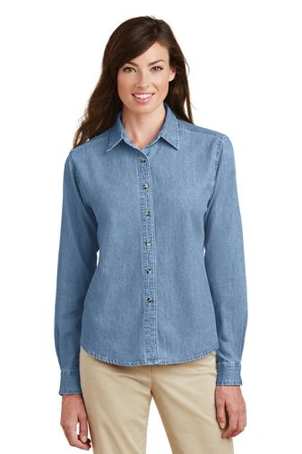 Port & Company® - Ladies Long Sleeve Value Denim Shirt NBC2020