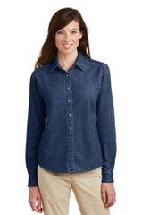 Port & Company® - Ladies Long Sleeve Value Denim Shirt PBGV