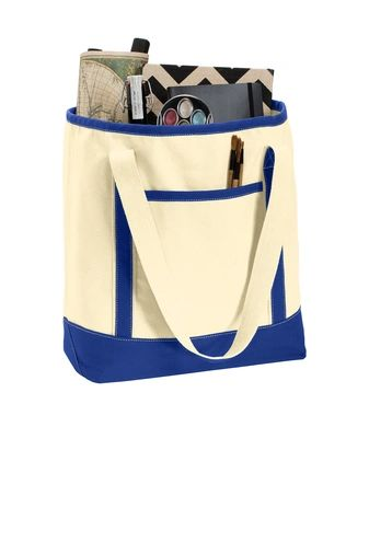 Port Authority® Large Cotton Canvas Boat Tote NKC