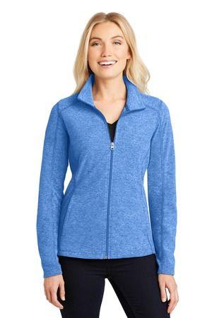 Port Authority® Ladies Heather Microfleece Full-Zip Jacket RHR