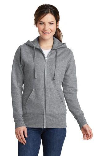 Port & Company® Ladies Core Fleece Full-Zip Hooded Sweatshirt NPD