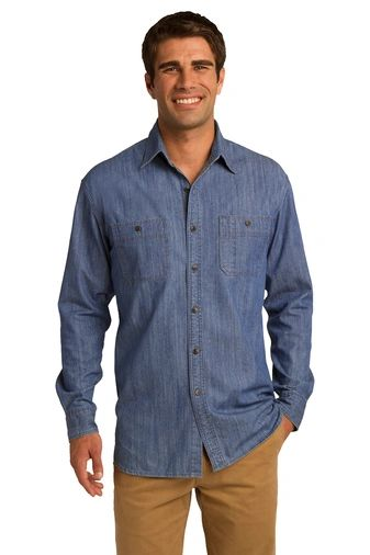 Port Authority® Patch Pockets Denim Shirt NPD