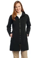 Port Authority® Ladies Long Textured Hooded Soft Shell Jacket GS