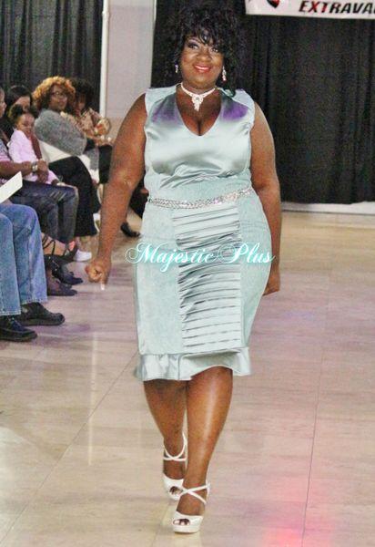 Elegant A-Line Dress w/Rhinestone Belt