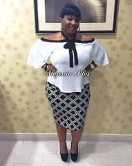 Geo Diamond Pencil Skirt