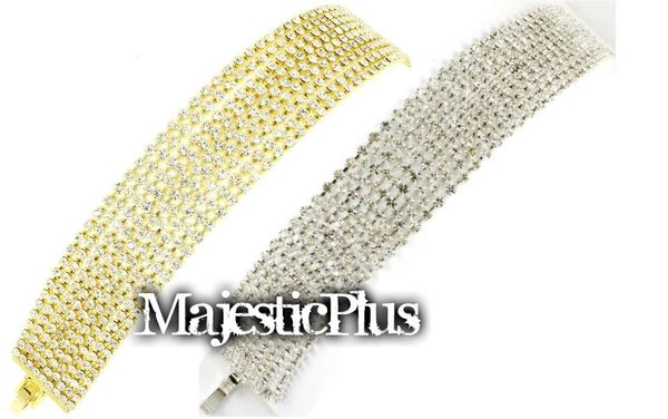 9 Layer Rhinestone Tennis Bracelet