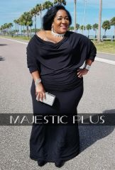 CONVERTIBLE BLACK GODDESS DRESS