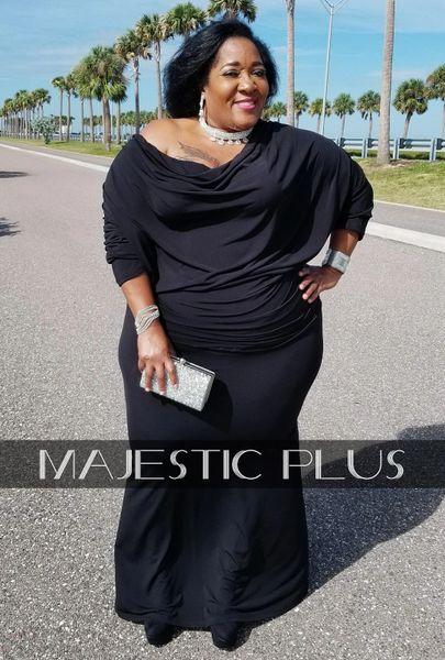 CONVERTIBLE BLACK GODDESS DRESS
