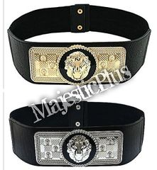 Lion Head Decorative Plated Stretch Belt