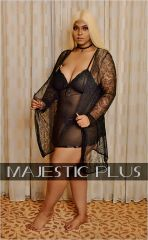 Lace Lingerie Robe- Black