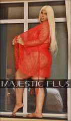 Lace Lingerie Robe- Red