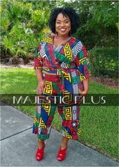 Multi Color Capri Maze Jumpsuit