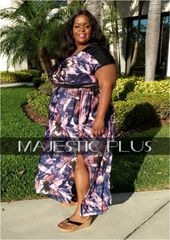 Butterfly Wrap Bust Maxi Dress