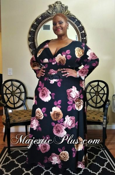 Floral Wrap Bust Maxi Dress