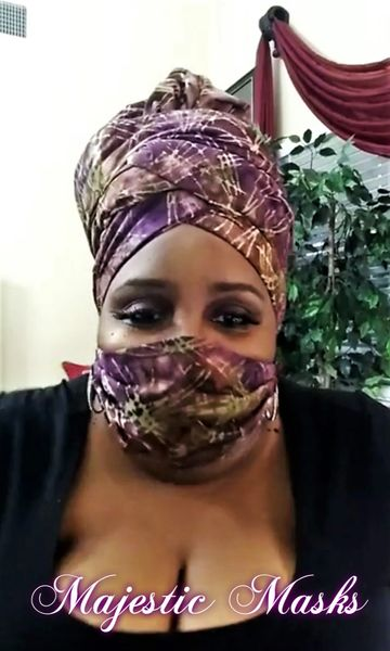 Batik Head Wrap & Face Mask Sets