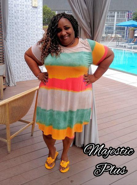 VaCayBay Striped Beach Dress