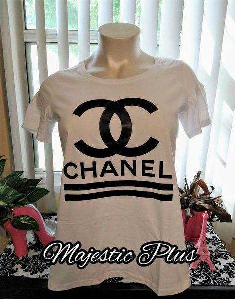 CC Chanel Inspired White T-Shirts