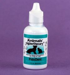 Animals' Apawthecary FidoDent Herbal Mouth and Gum Formula - 1 oz bottle