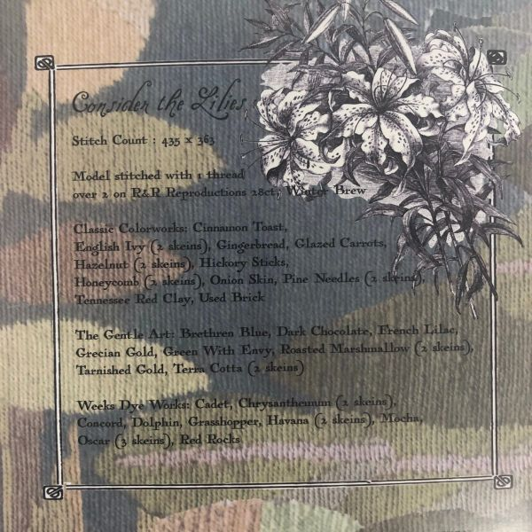 Consider The Lillies Cross Stitch Chart