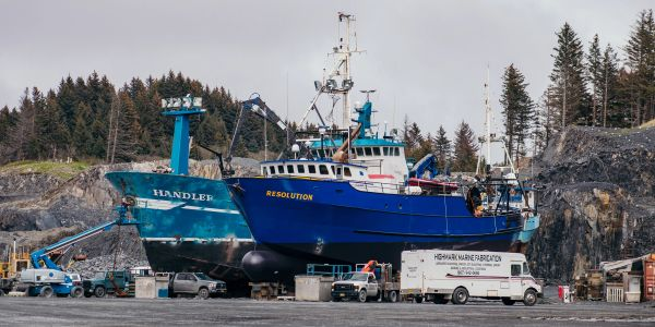 Vessels drydocked at Kodiak Shipyard