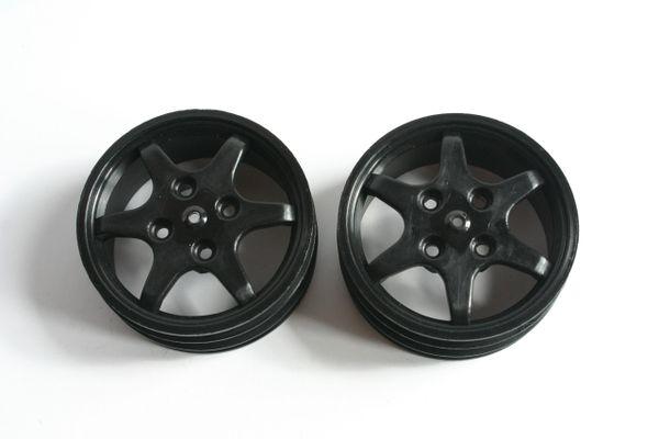 Fastrax JC Wheels Front Black Wheels For Yokomo YZ10 - JCYZF-B YZ-10