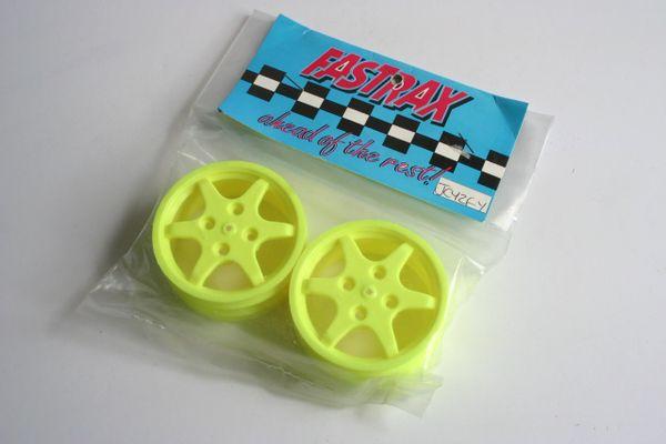 Fastrax JC Wheels Front Yellow Wheels For Yokomo YZ10 - JCYZF-Y YZ-10